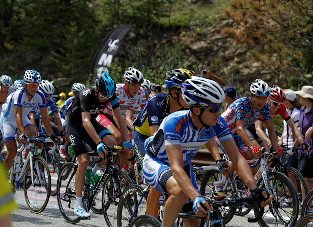 Cyclists compete at the USA Pro Challenge in 2014. (Kimon Berlin/Flickr)