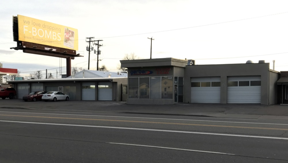 Gerber Automotive located at 2222 and 2228 S. Colorado Blvd. in Denver. (Courtesy of CBRE)