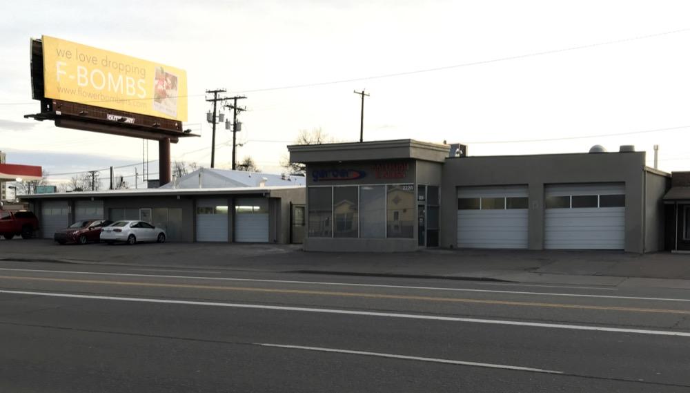 Gerber Automotive located at 2222 and 2228 S. Colorado Blvd. in Denver. (Courtesy of CBRE)