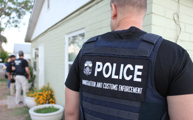 An ICE immigration enforcement officer during Operation Cross Check in 2011. (U.S. Immigration and Customs Enforcement)