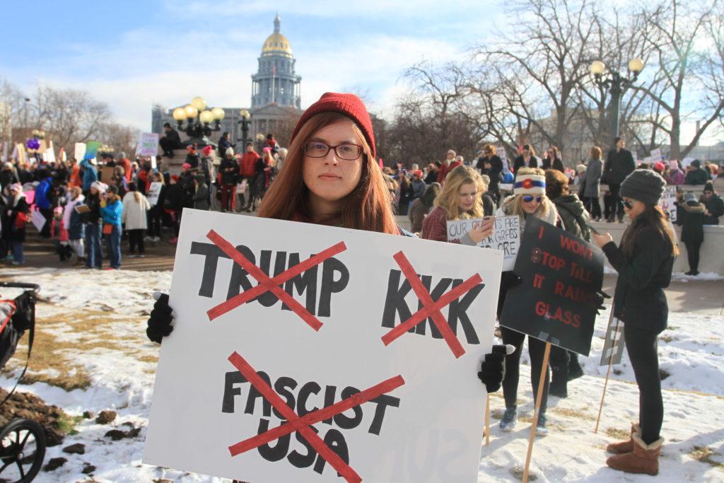 Adrien Schless-Meier attends the Women's March on Denver on Saturday, Jan. 21, 2017.