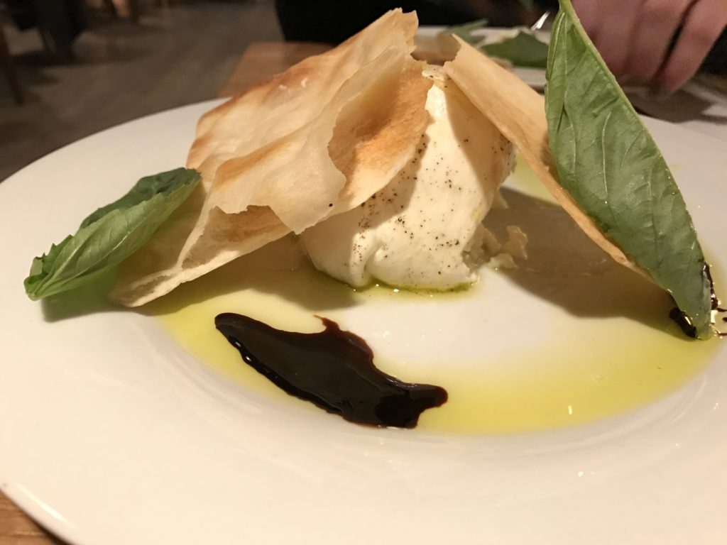 Burrata at the new location of Il Posto at 26th and Larimer. (Ashley Dean/Denverite)