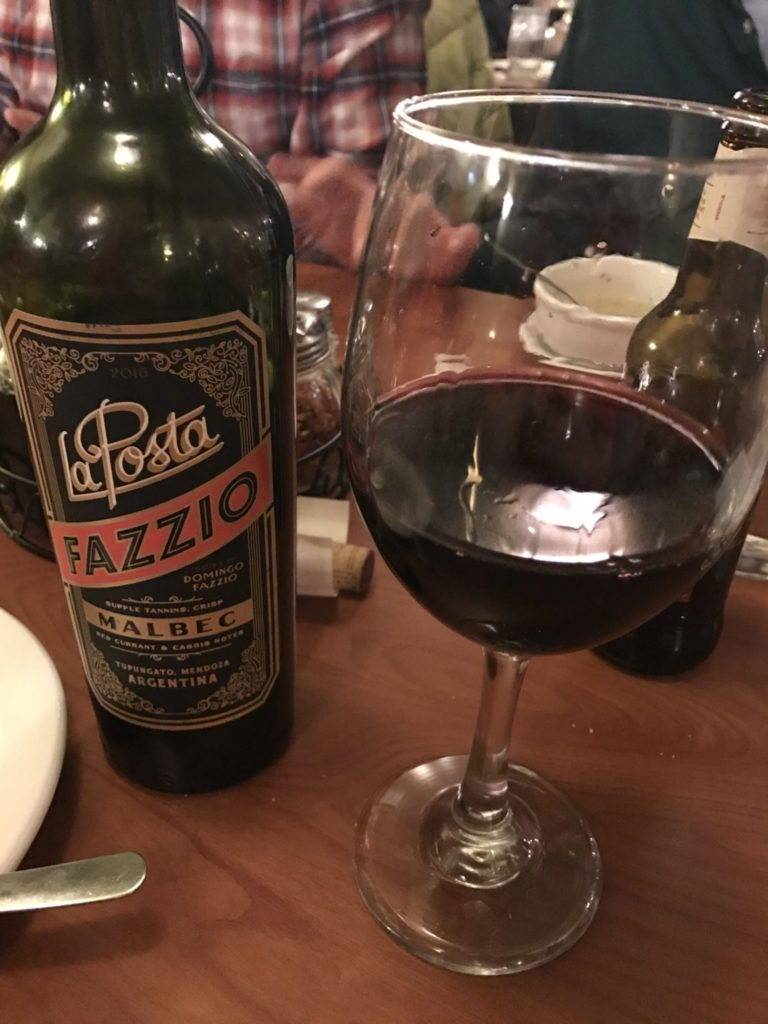 Good wine choice at Café Jordano, 11068 W. Jewell Ave., Lakewood. (Ashley Dean/Denverite)