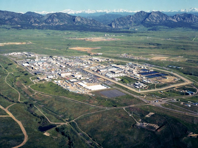 Rocky Flats in 1995, prior to final clean-up. (U.S.)