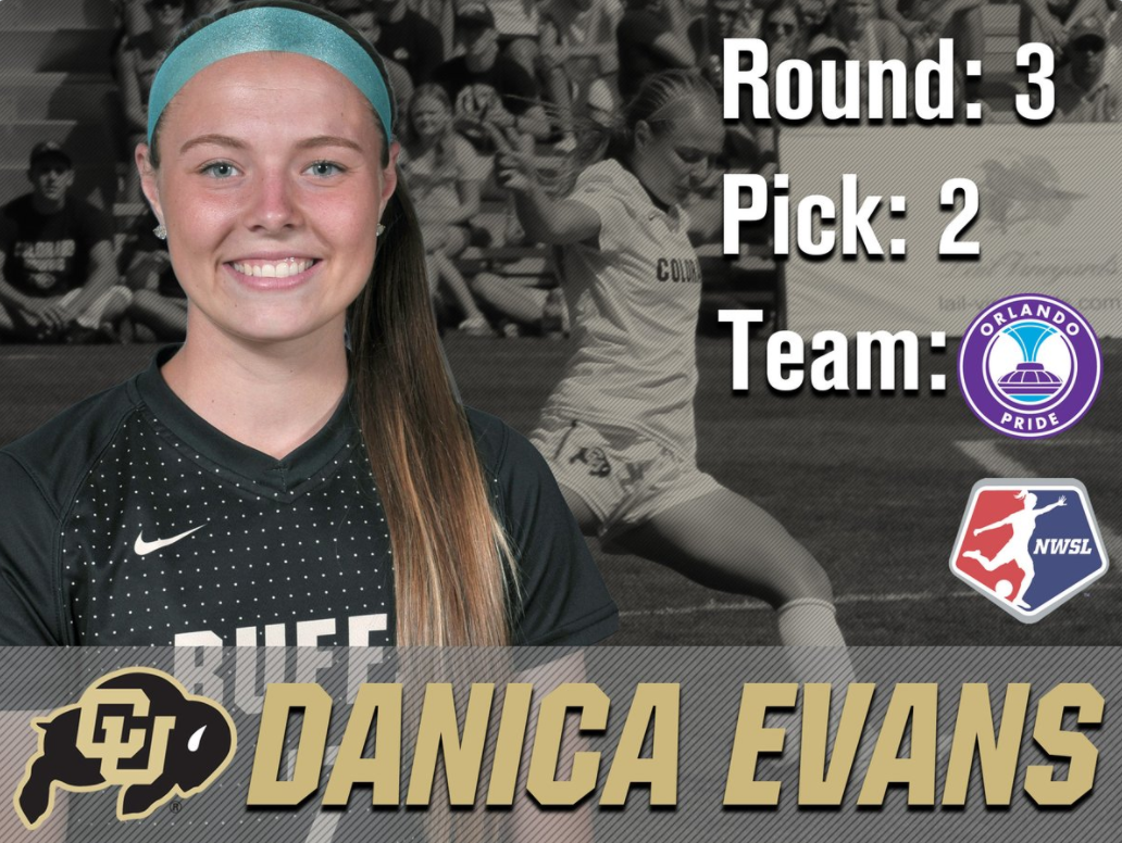 The Orlando Pride took Danica Evans in the third round of the NWSL draft Thursday. (Screen shot via Twitter)