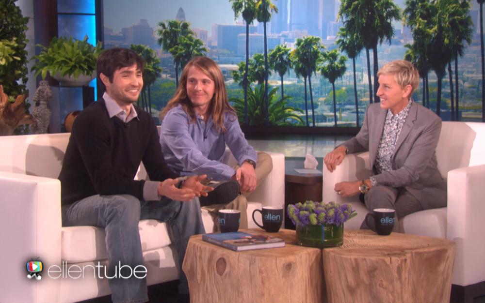 Richard, Mickey Wilson and Ellen DeGeneres. (The Ellen DeGeneres Show)