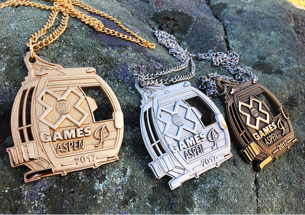 These are the medals the X Games are giving out in 2017. (Screen shot via Twitter)