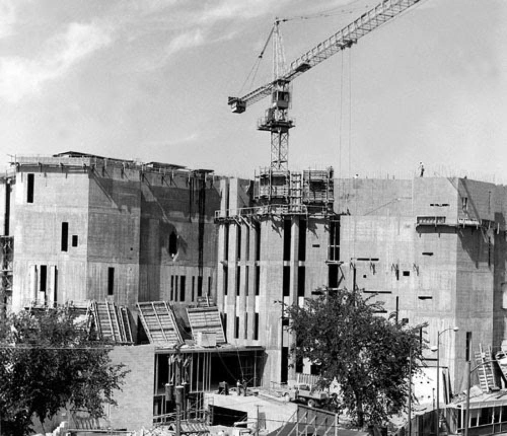 North Building under construction in 1969. (Courtesy Denver Art Museum.)