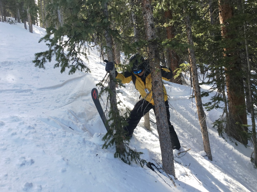 Doin' it wrong at Winter Park. (Andrew Kenney/Denverite)