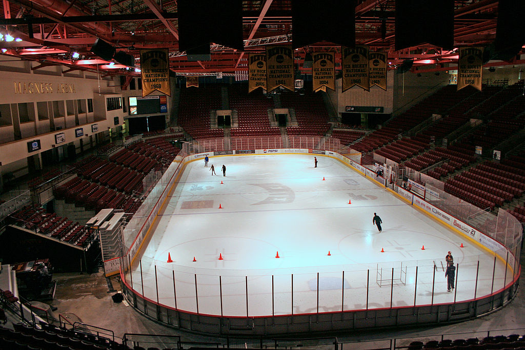 The Magness Arena at the University of Denver in Denver, Colorado. (Jeffrey Beall/Wikimedia Commons/CC 3.0)