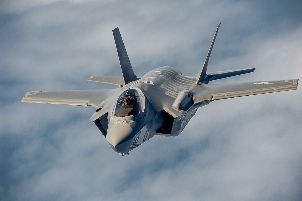 A U.S. Air Force pilot navigates an F-35A Lightning II aircraft. (U.S. Department of Defense)