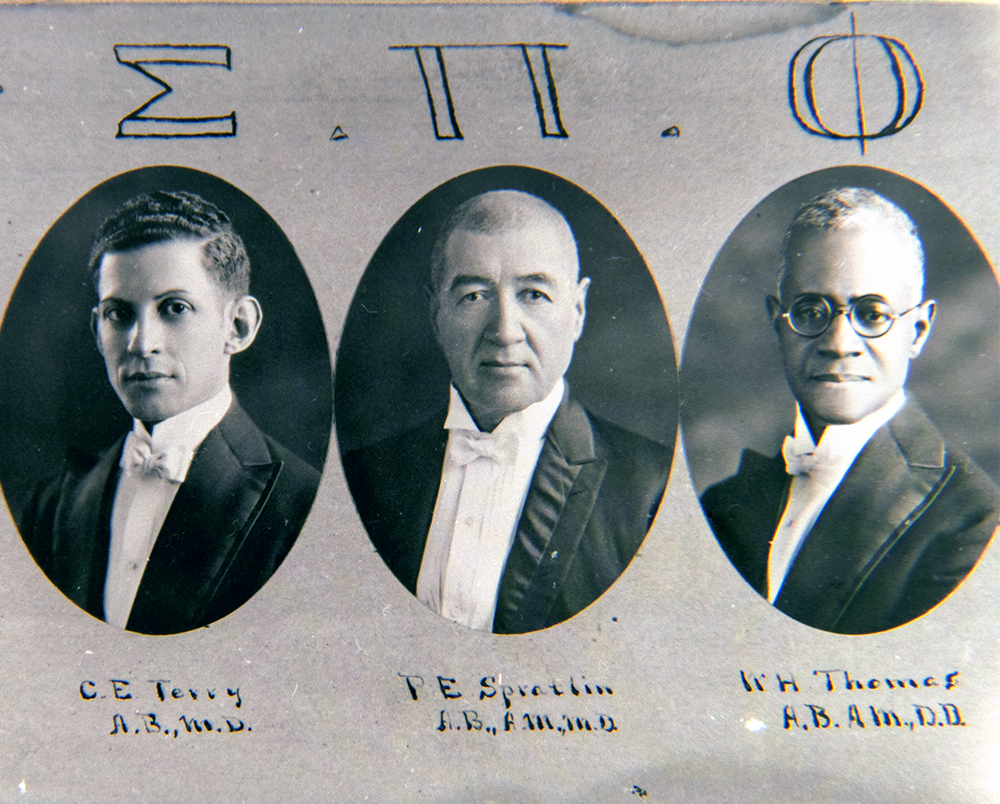 The first members of the Boulé in Denver. (Denver Public Library/Western History Collection/The Clarence and Fairfax Holmes Papers)  denver public library; archive; archival; dpl