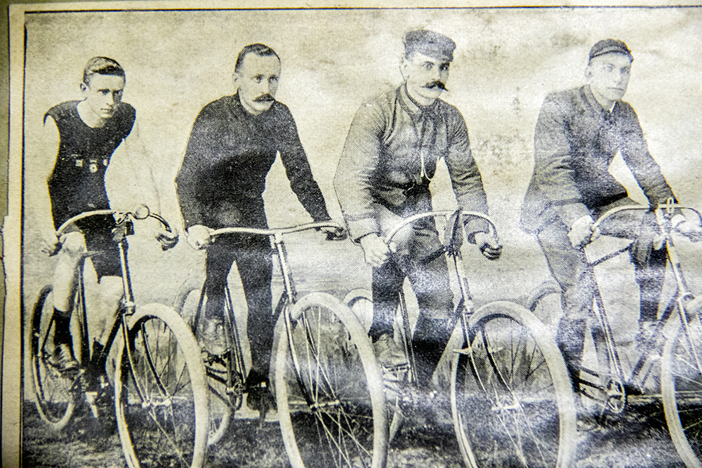 A Denver Wheel Club scrapbook saved in the Denver Public Library's Western History Collection archive. (Denver Wheel Club Records/ Denver Public Library/Western History Collection)  denver public library; dpl; denver; colorado; history; archive; bike; bicycle; cycling;