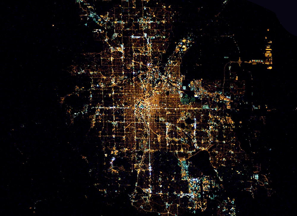 Denver at night from space. (International Space Station/NASA/Public Domain)