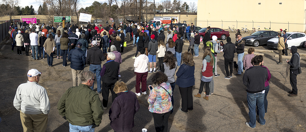 "There were about 200 people in attendance at the ""Defund Planned Parenthood"" Rally outside Planned Parenthood of the Rockies, Feb. 11, 2017. (Kevin J. Beaty/Denverite)  abortion; pro life; planned parenthood; denver; colorado; kevinjbeaty; denverite; copolitics; politics;"