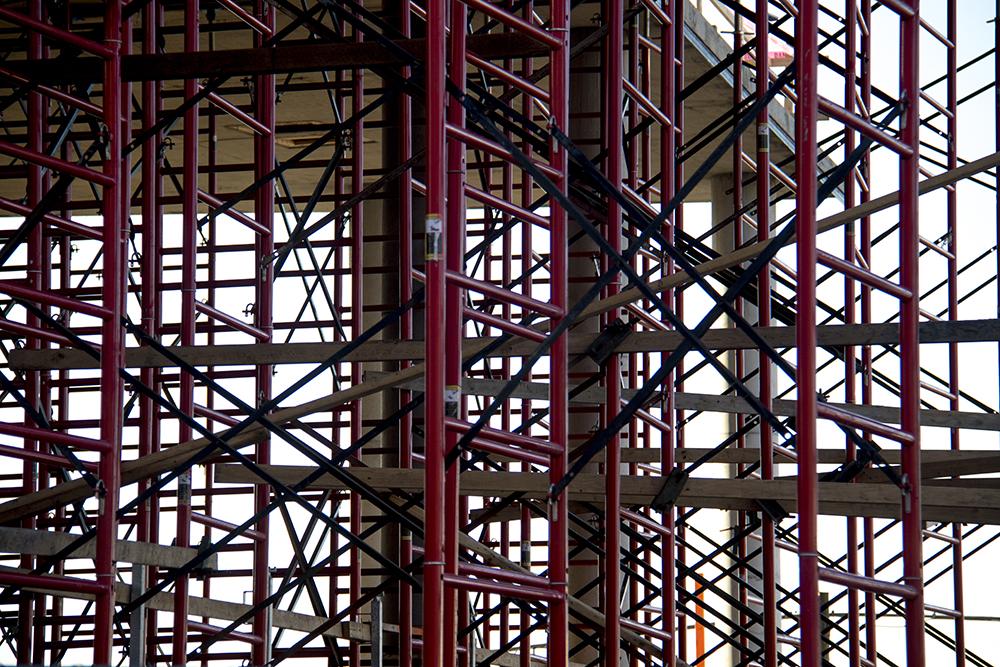 Brighton Boulevard under much construction. (Kevin J. Beaty/Denverite)  construction; development; brighton; rino; kevinjbeaty; denver; denverite; colorado;