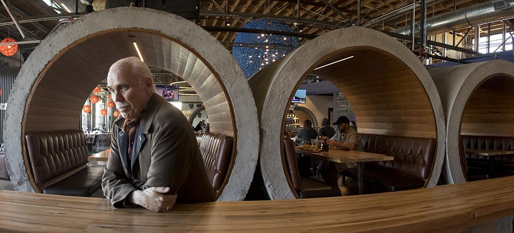 Bernard Hurley poses for a portrait at the RiNo Blue Moon brewery, a property he owns. (Kevin J. Beaty/Denverite)  Bernard Hurley; rino; development; kevinjbeaty; denver; colorado; denverite;