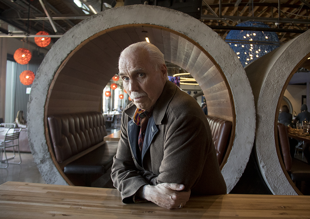 Bernard Hurley poses for a portrait at the RiNo Blue Moon brewery, a property he owns. (Kevin J. Beaty/Denverite)  Bernard Hurley; rino; development; kevinjbeaty; denver; colorado; denverite;