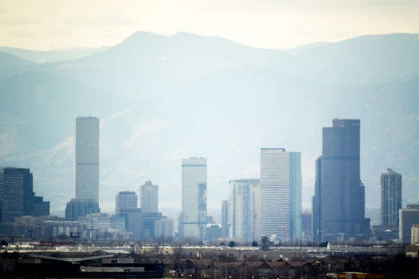 Denver seen from the Rocky Mountain Arsenal, Feb. 12, 2017. (Kevin J. Beaty/Denverite)  rocky mountain arsenal; kevinjbeaty; denver; colorado; denverite; skyline; cityscape;