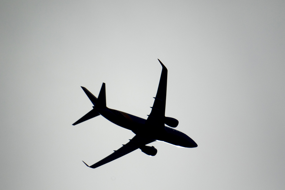 An airplane. Seen at Rocky Mountain Arsenal, Feb. 12, 2017. (Kevin J. Beaty/Denverite)  rocky mountain arsenal; kevinjbeaty; denver; colorado; denverite; dia; denver international airport; airplane;