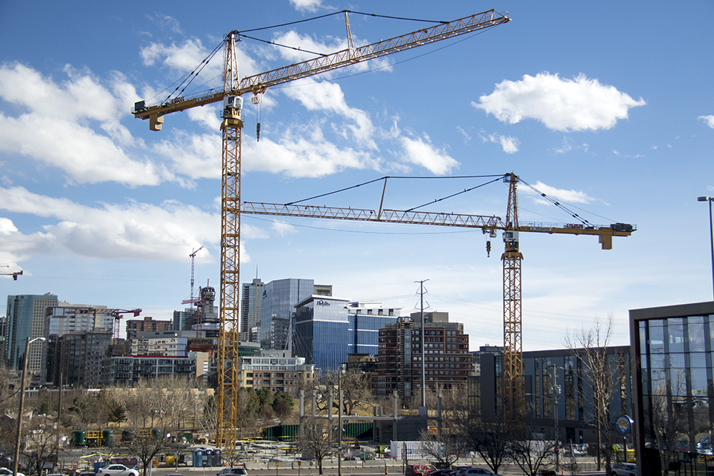 A construction site on Platte Street where there was a false bomb threat on Feb. 25, 2017. (Kevin J. Beaty/Denverite)  denver; colorado; kevinjbeaty; denverite; construction; development;