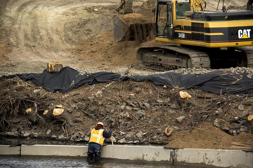 Construction at Globeville Landing Park. (Kevin J. Beaty/Denverite)  rino; denver; colorado; kevinjbeaty; denverite; construction; development; globeville;