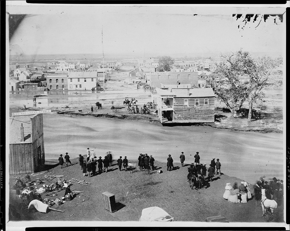 The Great Flood, Denver, Colorado Territory, May 19, 1864. (George D. Wakely/Library of Congress)