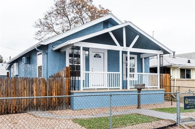 The exterior of 4537 Lincoln Street. (Courtesy of Redfin)