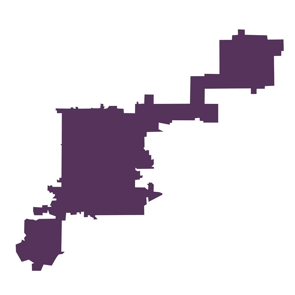 Colorado District 1 (Shape reference: statisticalatlas.com)  maps; denver; u.s. house district;