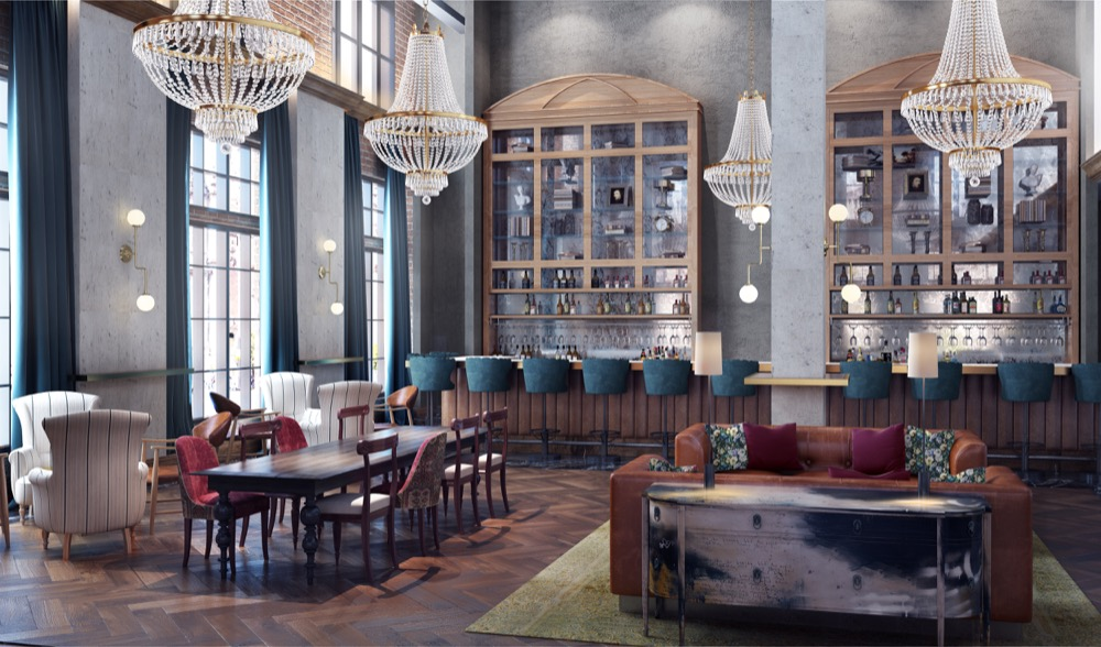A rendering of the interior of The Ramble Hotel. (Courtesy Gravitas Development Group)