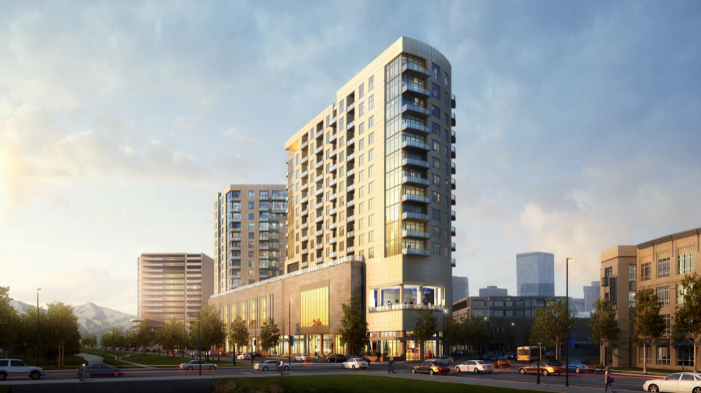 The Speer Boulevard Lofts planned for Speer Boulevard and Bannock Street. (Courtesy of Greystar Development Group)
