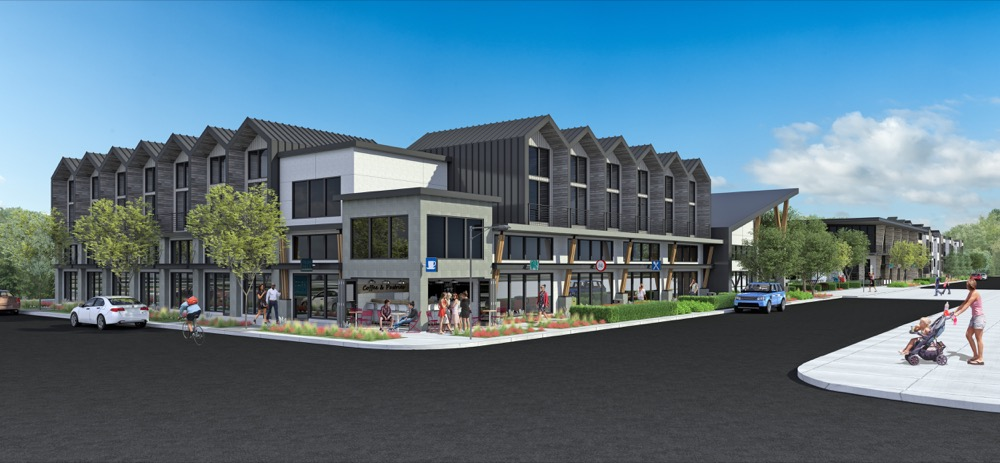 The multi-use Park Hill Commons Project proposed for Fairfax Street between 28th and 29th streets. (Courtesy of HM Capital Group)