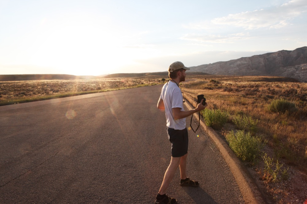 Sunset over Dinosaur National Monument. (Andrew Kenney/Denverite)
