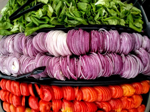 Veggies ready for the grill at Marczyk Fine Foods, 770 E. 17th Ave., on an unseasonably warm February Day. (Kevin J. Beaty/Denverite)