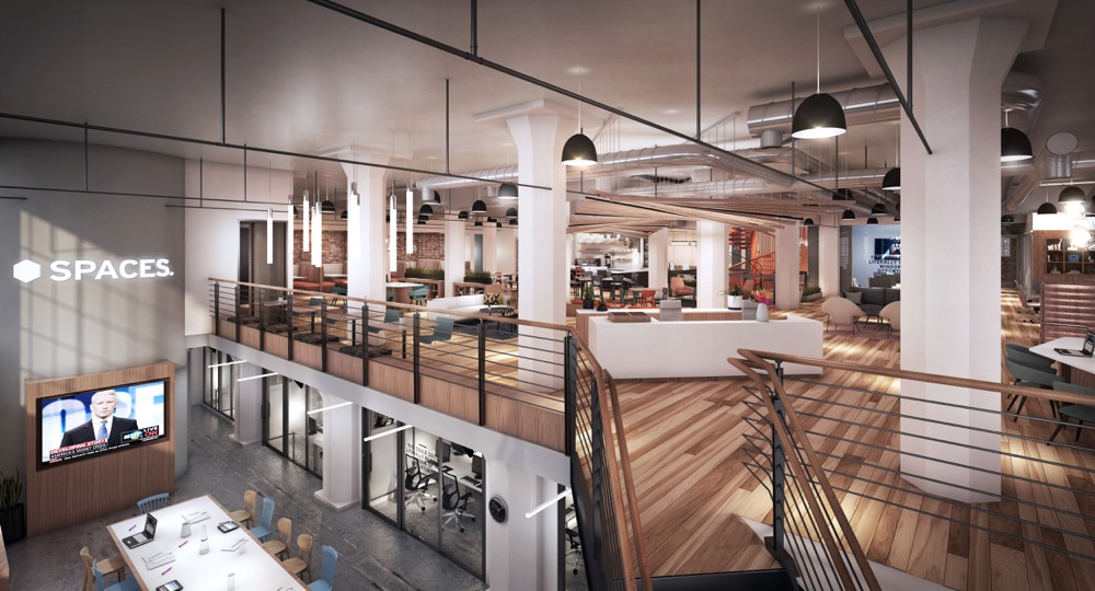 A rendering of the Spaces — Ballpark Denver coworking space. (Courtesy of Spaces)