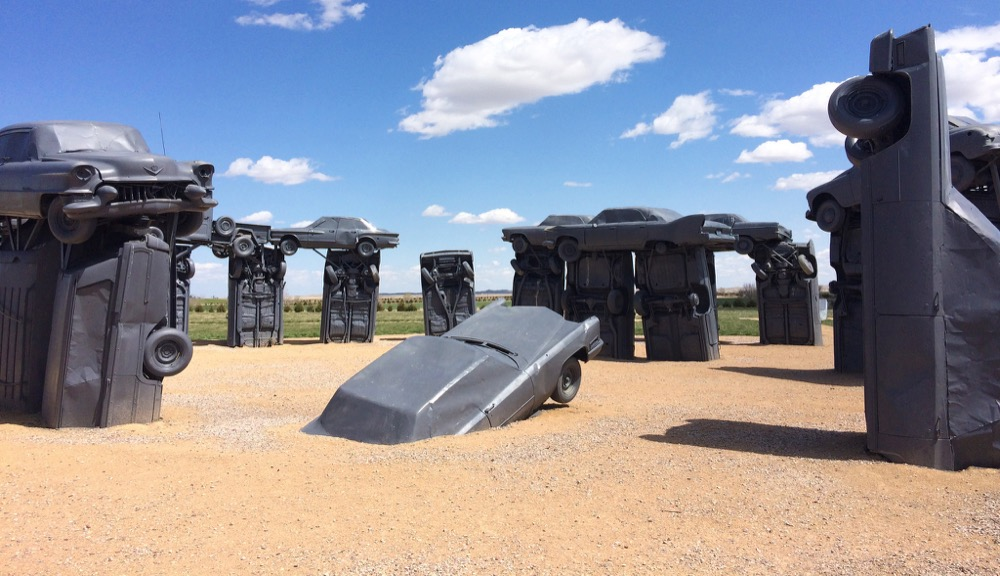 Carhenge in Alliance, Nebraska. (Tyler Merbler/Flickr)