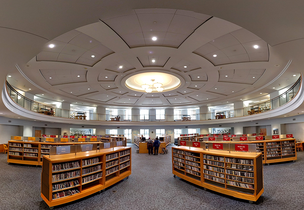 The Denver Public Library's mighty media collection. (Kevin J. Beaty/Denverite)