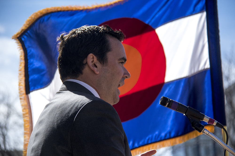 Colorado State Treasurer Walker Stapleton speaks at a U.S. Term Limits rally on the Capitol steps. (Kevin J. Beaty/Denverite)  capitol; copolitics; rally; congressional term limits; denver; politics; colorado; kevinjbeaty; denverite;