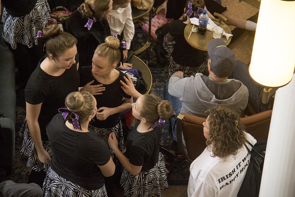The Celtic Steps Irish dancers. St. Patrick's Day celebration, March 11, 2017. (Kevin J. Beaty/Denverite)  st. patricks day; union station; kevinjbeaty; denver; colorado; denverite;