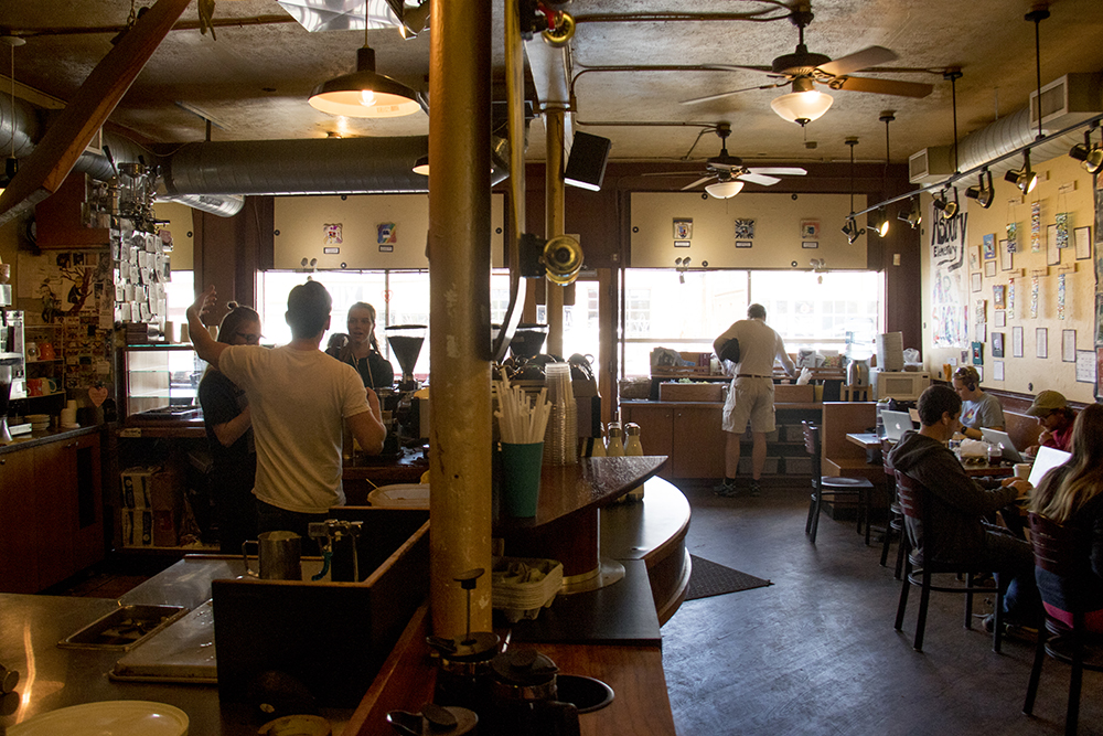 Kaladi Coffee Roasters. (Kevin J. Beaty/Denverite)  university of denver; du; kevinjbeaty; denverite; denver; colorado; coffee; food;