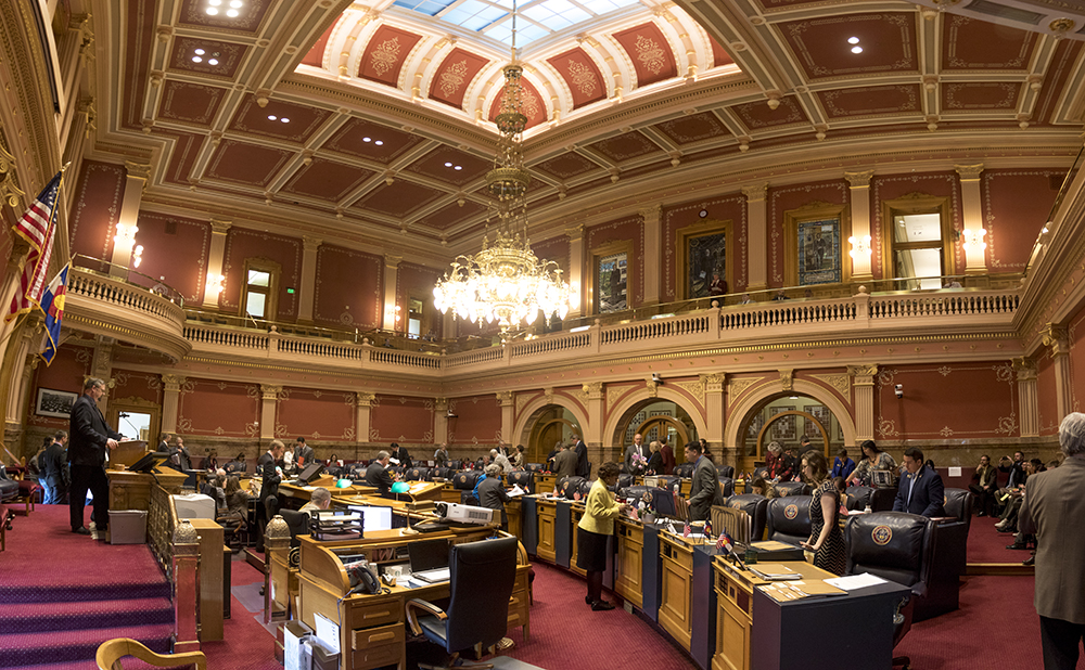 The Colorado State Senate, March 15, 2017. (Kevin J. Beaty/Denverite)  capitol; copolitics; government; kevinjbeaty; denver; denverite; colorado; senate