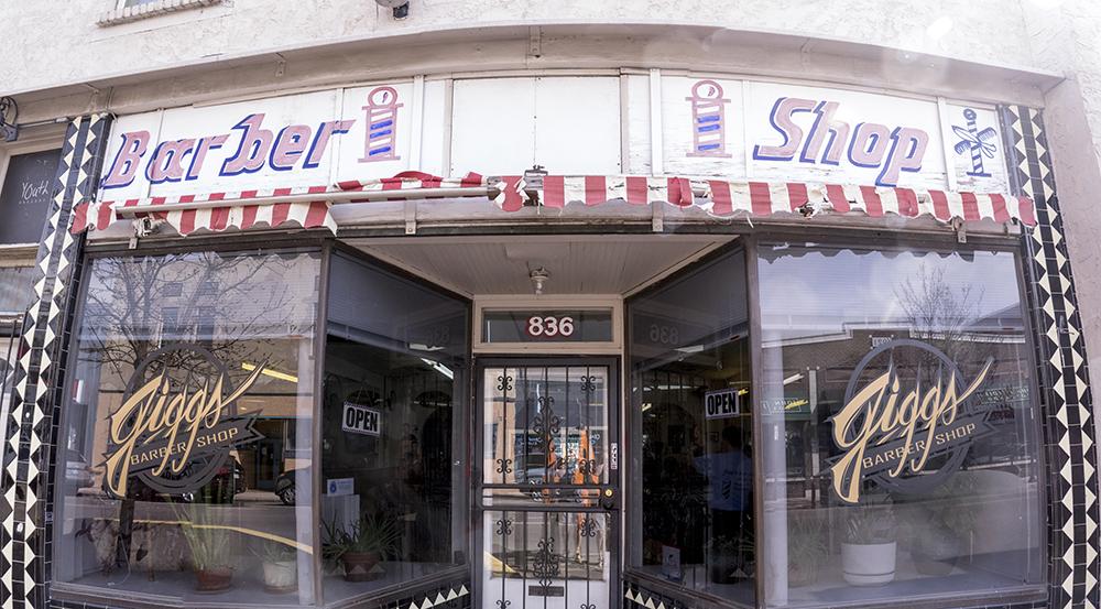 Jigg's Barber Shop on Santa Fe Drive, March 21, 2017. (Kevin J. Beaty/Denverite)  denver; colorado; kevinjbeaty; denverite; santa fe art district; lincoln park; haircut;
