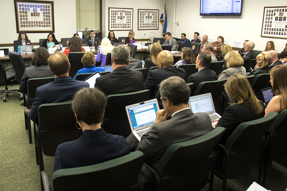 The Colorado House Transportation Committee meets on HB-1242, a bipartisan measure to ask voters if they'd raise sales tax to boster infrastructure speding, March 22, 2017. (Kevin J. Beaty/Denverite)  capitol; copolitics; house of representatives; transportation committee; development; kevinjbeaty; denver; denverie; colorado;