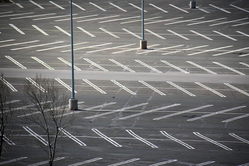 Empty spaces at Park Meadows Mall. (Kevin J. Beaty/Denverite)  transportation; transit; kevinjbeaty; denver; colorado; denverite; centennial;