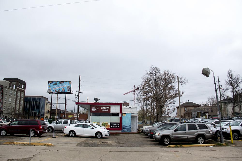 The old I Candi Car Wash at  838 Park Avenue. (Kevin J. Beaty/Denverite)  development; construction; five points; arapahoe square; denver; colorado; denverite; kevinjbeaty;