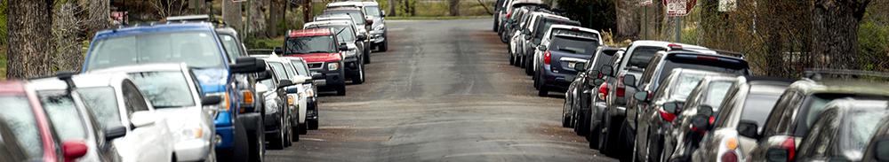 Neighborhood Parking in  the Speer neighborhood. (Kevin J. Beaty/Denverite)  denver; colorado; kevinjbeaty; denverite; speer; traffic; cars; transportation; parking;