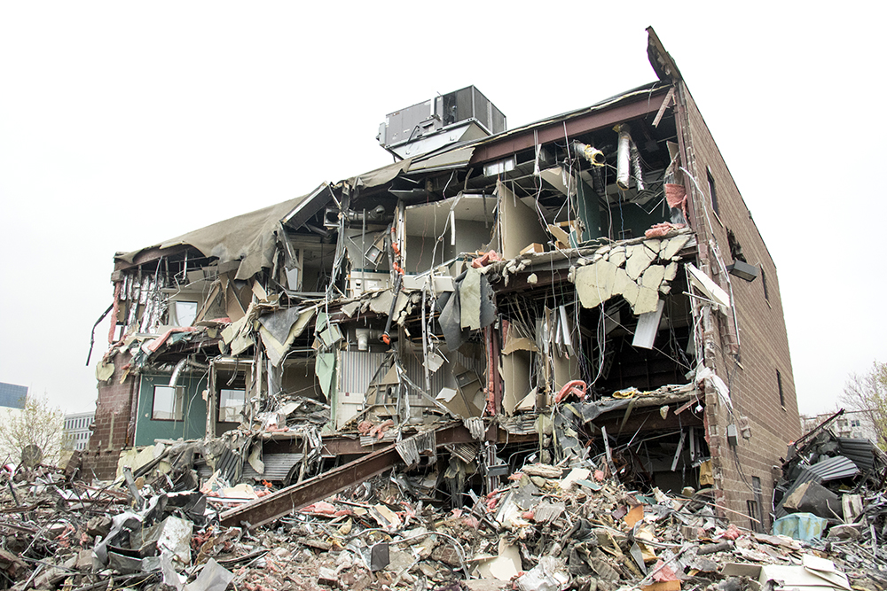 A demolition site at 12th Avenue and Grant Street. (Kevin J. Beaty/Denverite)  denver; colorado; kevinjbeaty; denverite;
