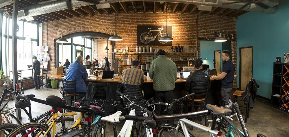 Inside the Denver Bicycle Cafe on 17th Avenue, City Park West. (Kevin J. Beaty/Denverite)  denver; colorado; kevinjbeaty; denverite; coffee shop; cafe; city park west; food;