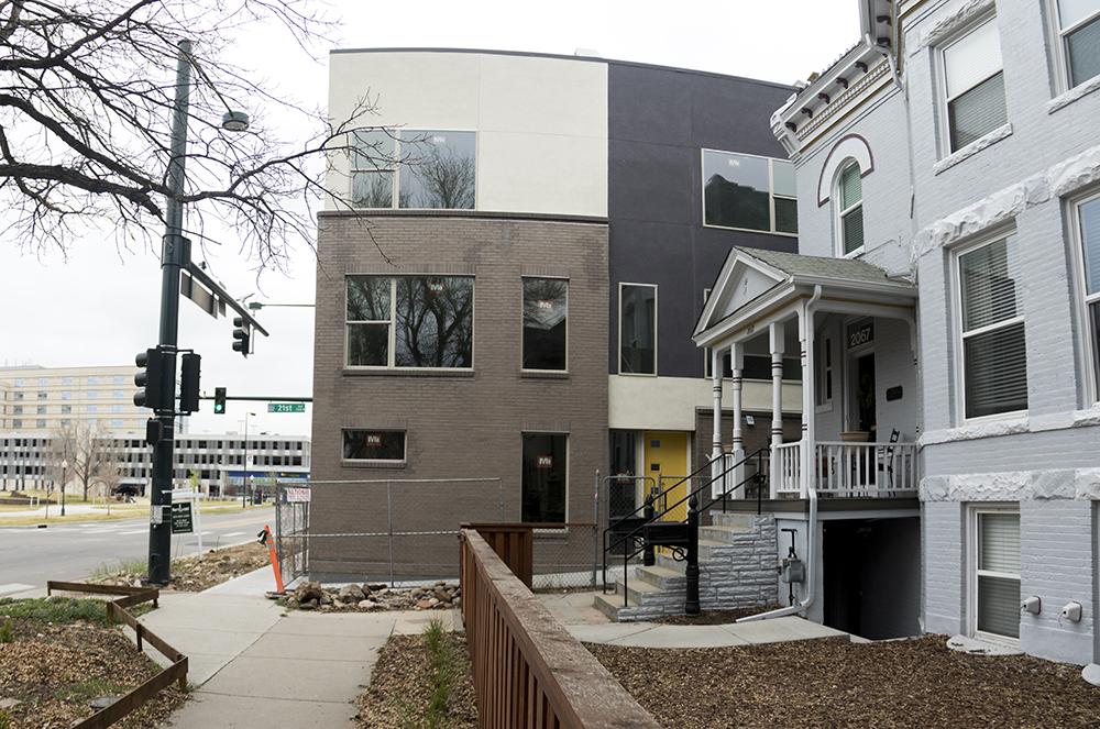 A new development on Downing Street, Five Points. (Kevin J. Beaty/Denverite)  denver; colorado; kevinjbeaty; denverite;