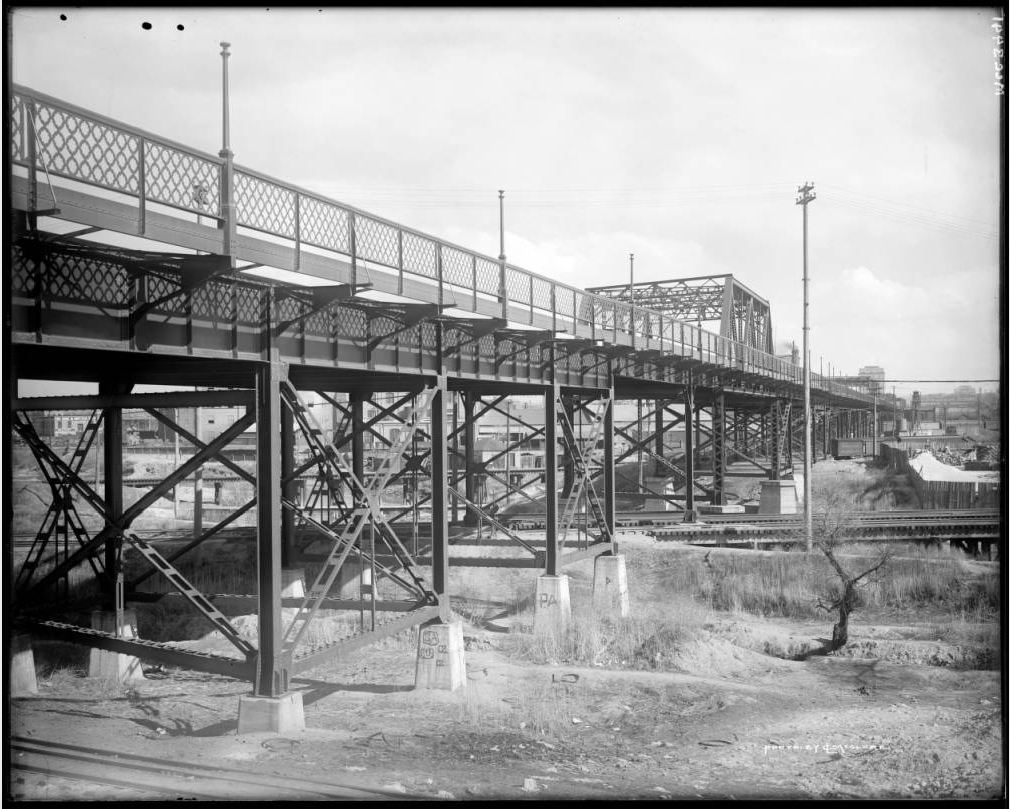 The 23rd Street viaduct in 1911. (Louis Charles McClure/Western History and Genealogy Department/Denver Public Library